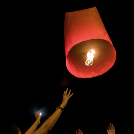 Red Flying Lanterns